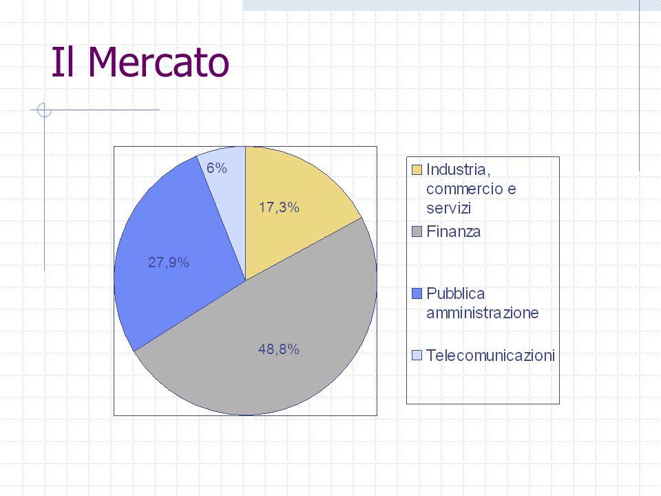 Il Mercato 6% 17,3% 27,9% 48,8% Dove: Il mercato è così suddiviso: