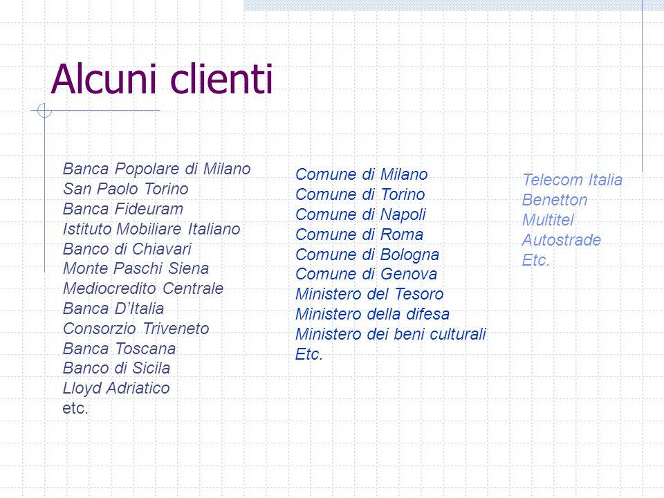 Alcuni clienti Banca Popolare di Milano Comune di Milano
