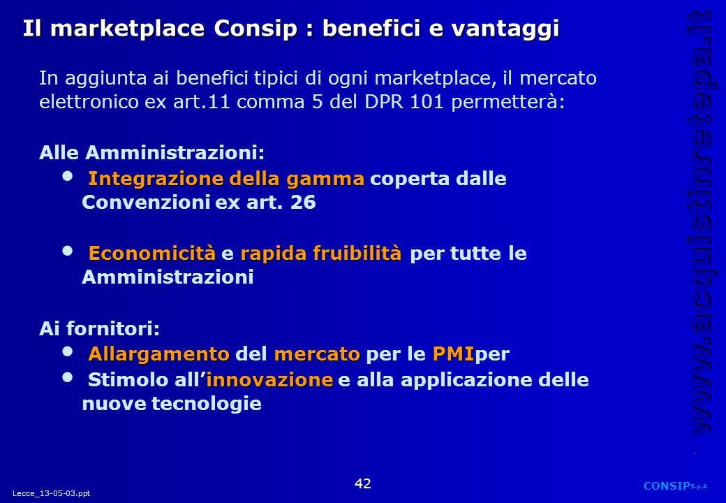Il marketplace Consip : benefici e vantaggi