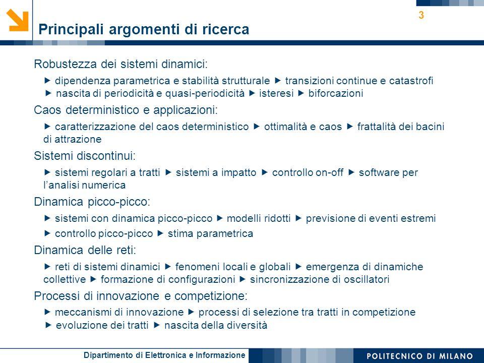 Principali argomenti di ricerca