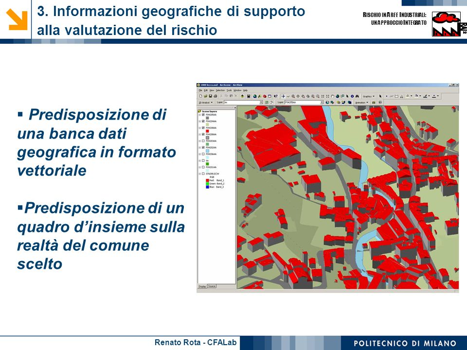 3. Informazioni geografiche di supporto alla valutazione del rischio
