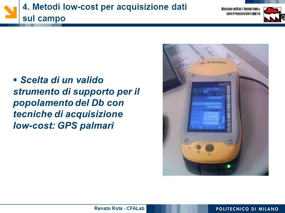 4. Metodi low-cost per acquisizione dati sul campo - 1