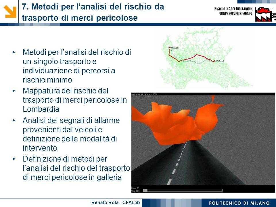 7. Metodi per l'analisi del rischio da trasporto di merci pericolose - 1
