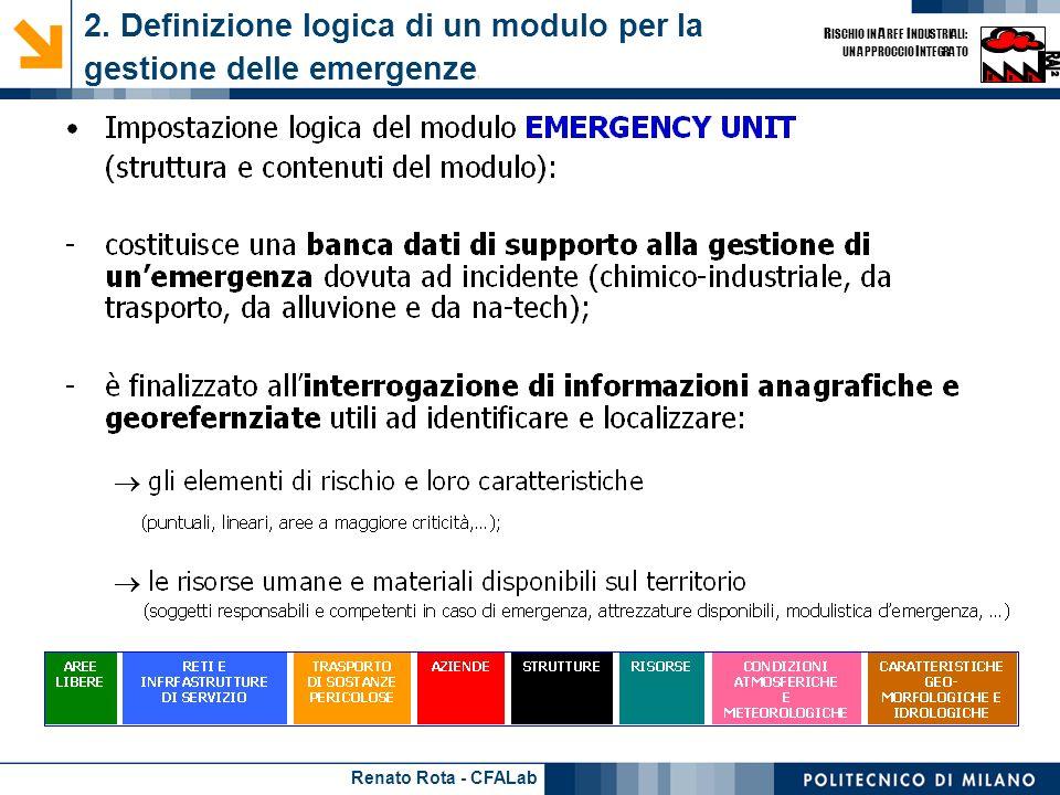 2. Definizione logica di un modulo per la gestione delle emergenze1
