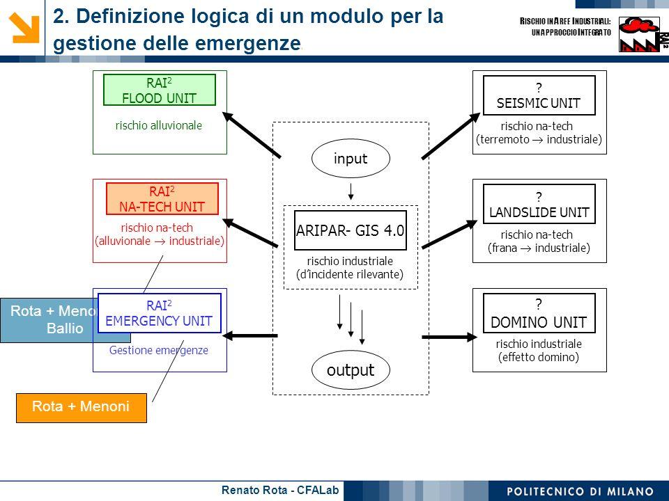 2. Definizione logica di un modulo per la gestione delle emergenze1 - 1