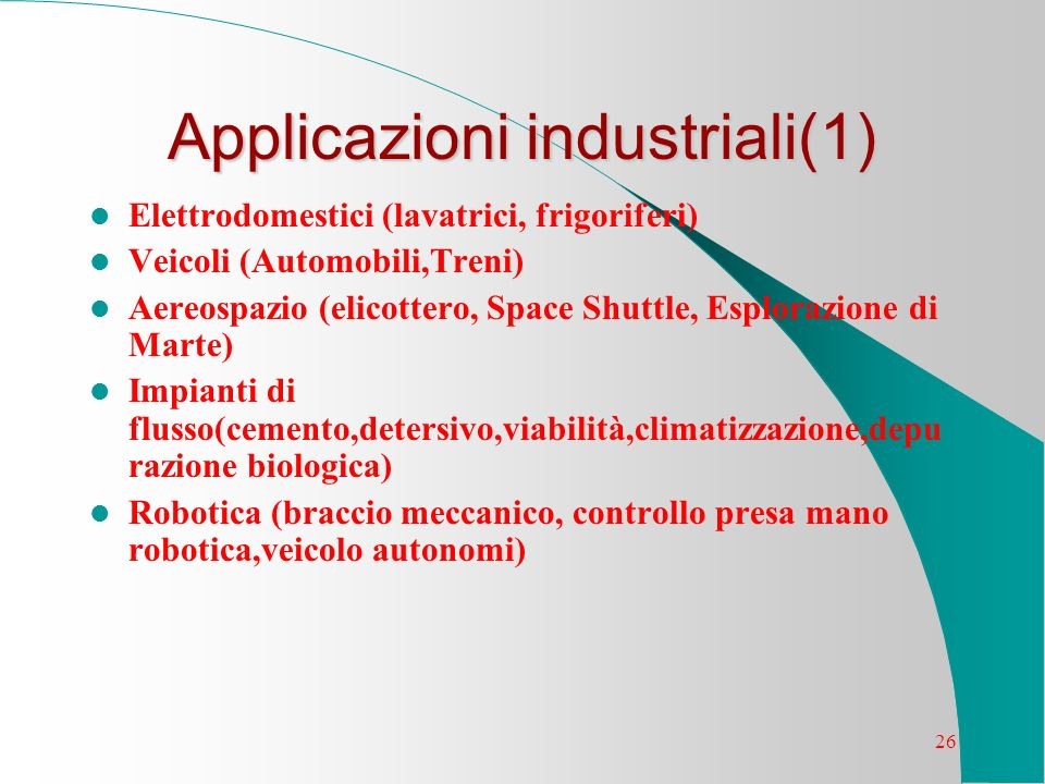 Applicazioni industriali(1)