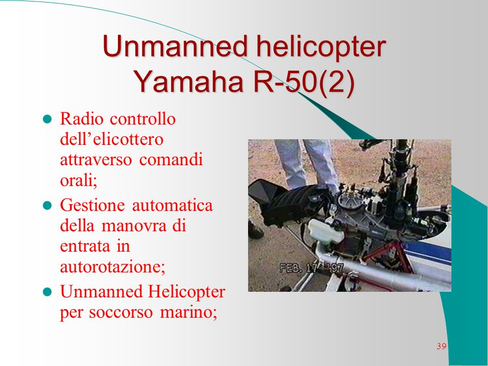 Unmanned helicopter Yamaha R-50(2)