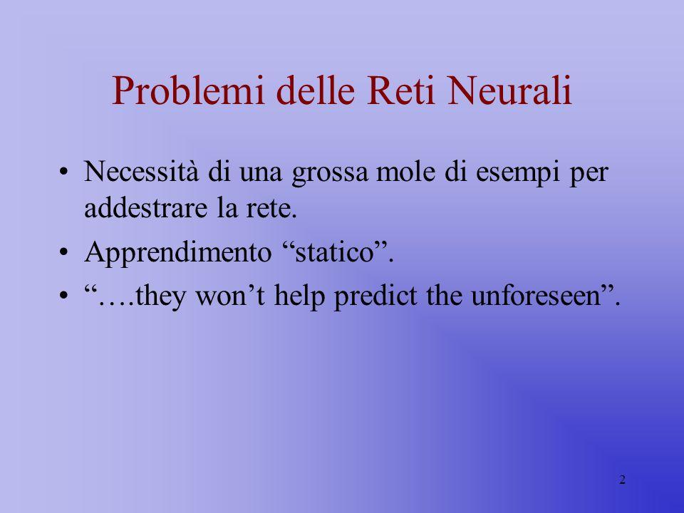 Problemi delle Reti Neurali