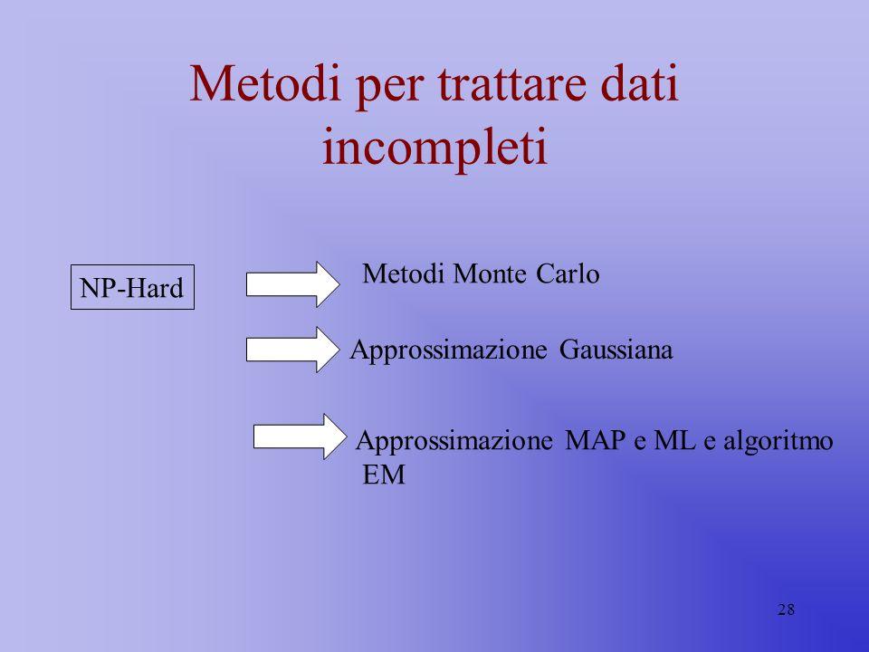 Metodi per trattare dati incompleti