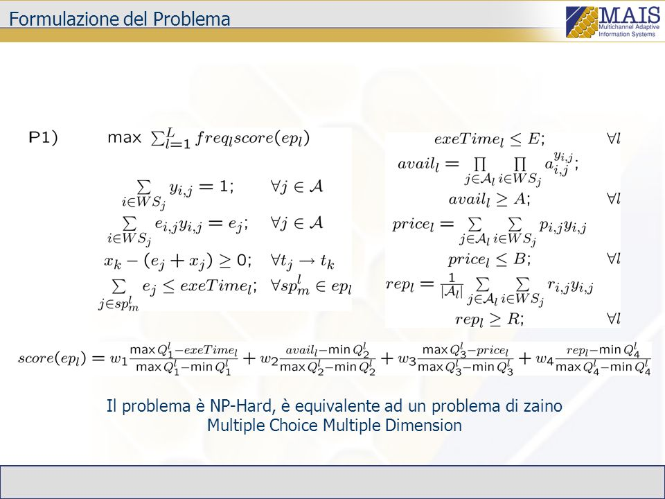 Formulazione del Problema