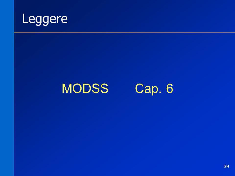 Leggere MODSS Cap. 6