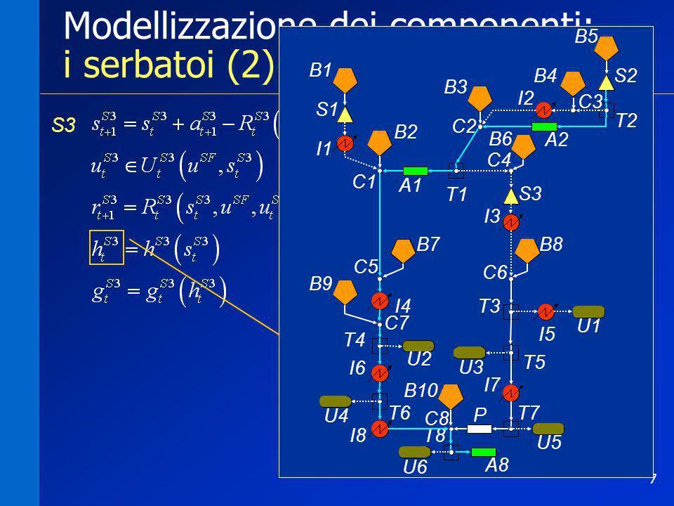 Modellizzazione dei componenti: i serbatoi (2)