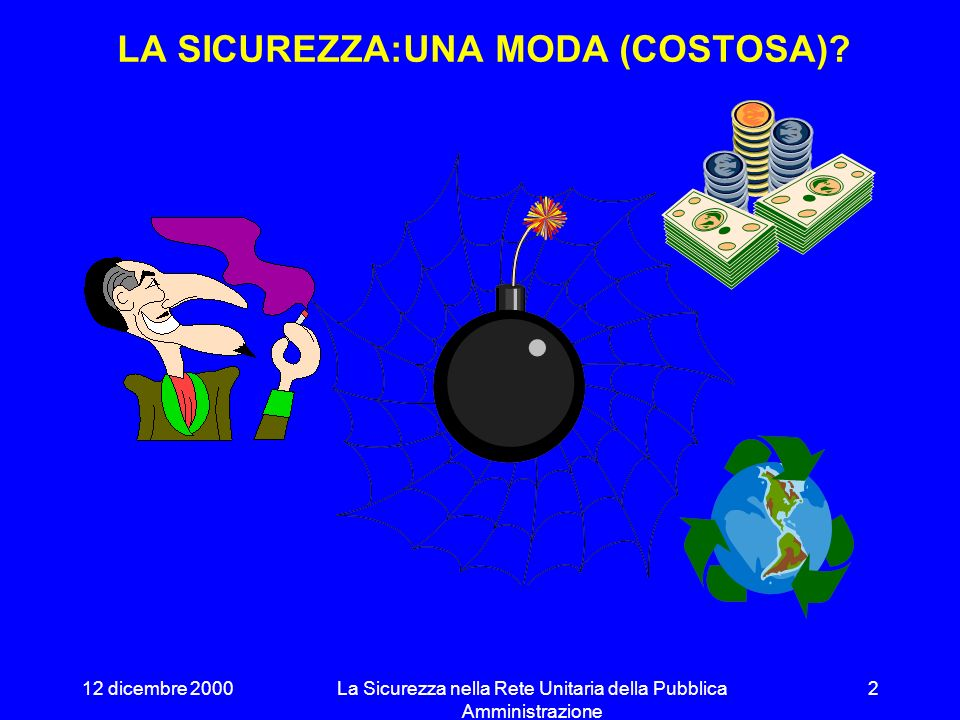 LA SICUREZZA:UNA MODA (COSTOSA)