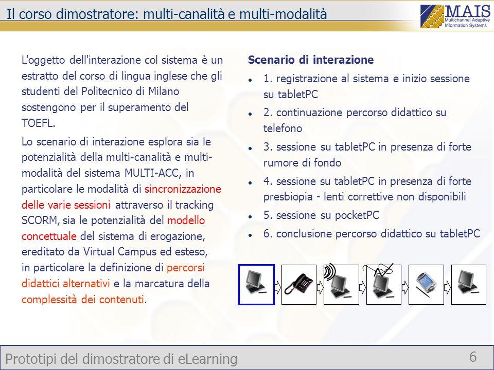 Il corso dimostratore: multi-canalità e multi-modalità
