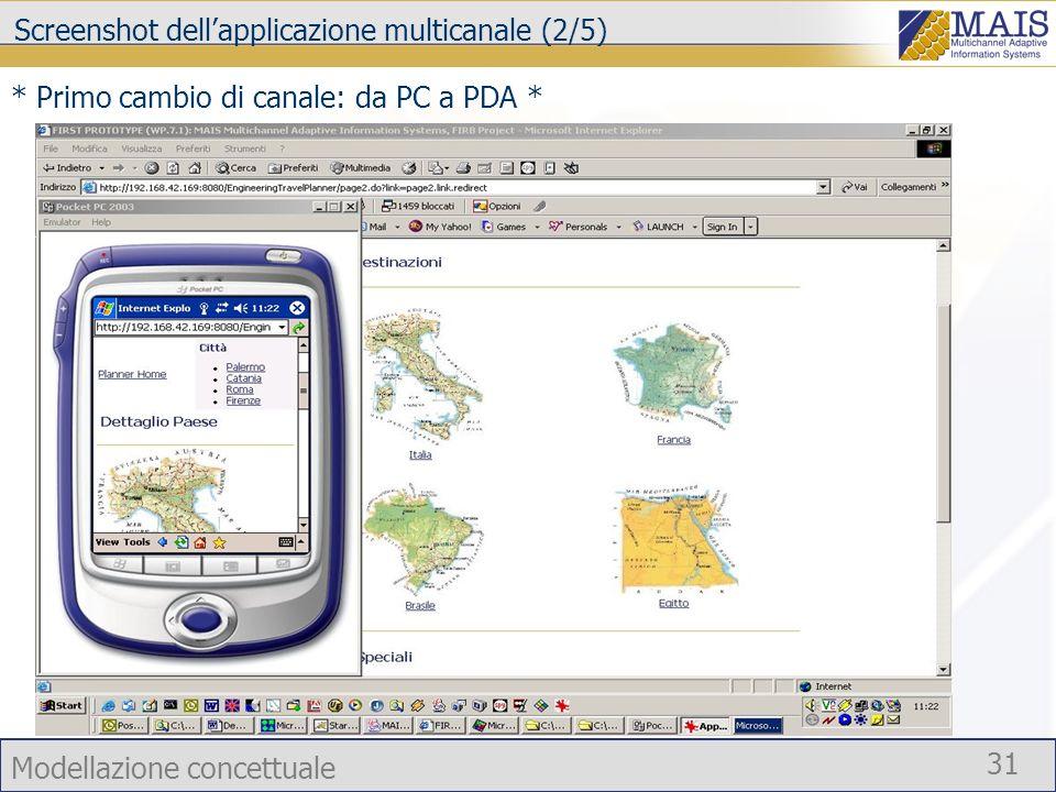 Screenshot dell'applicazione multicanale (2/5)