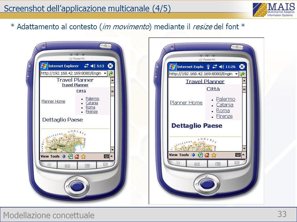 Screenshot dell'applicazione multicanale (4/5)