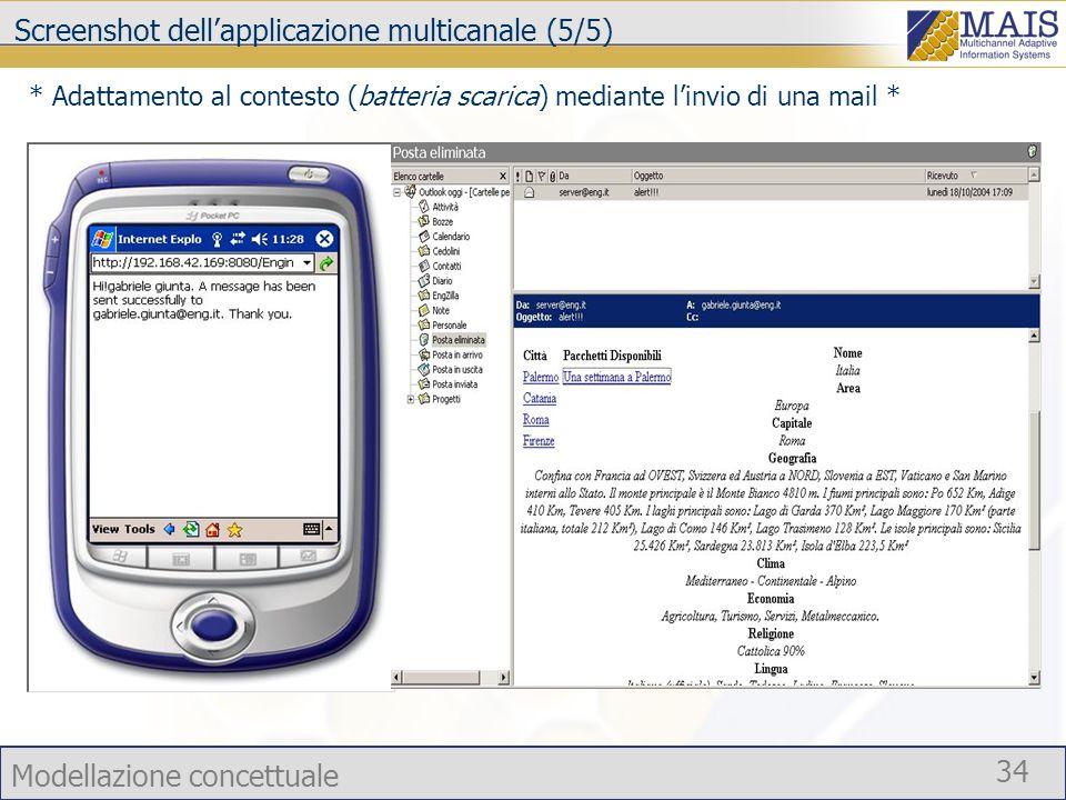 Screenshot dell'applicazione multicanale (5/5)