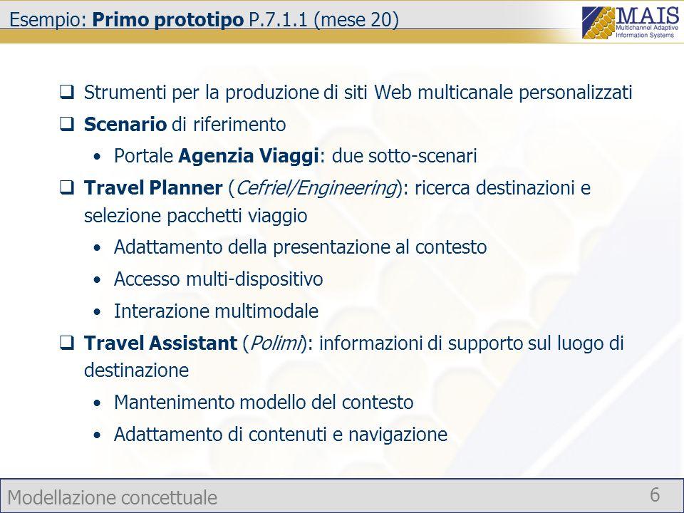 Esempio: Primo prototipo P.7.1.1 (mese 20)
