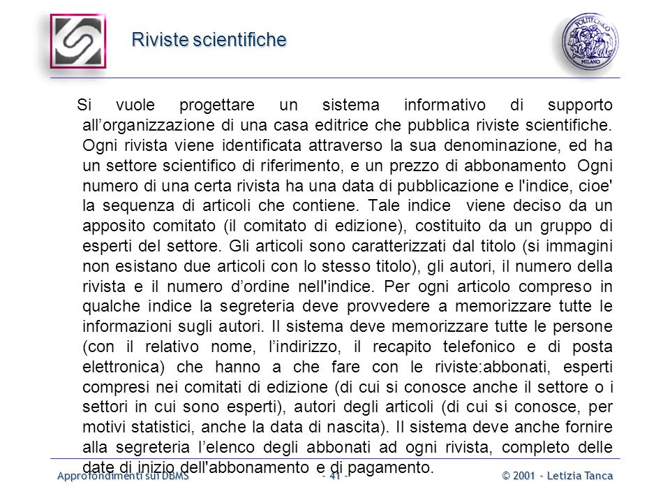 Riviste scientifiche