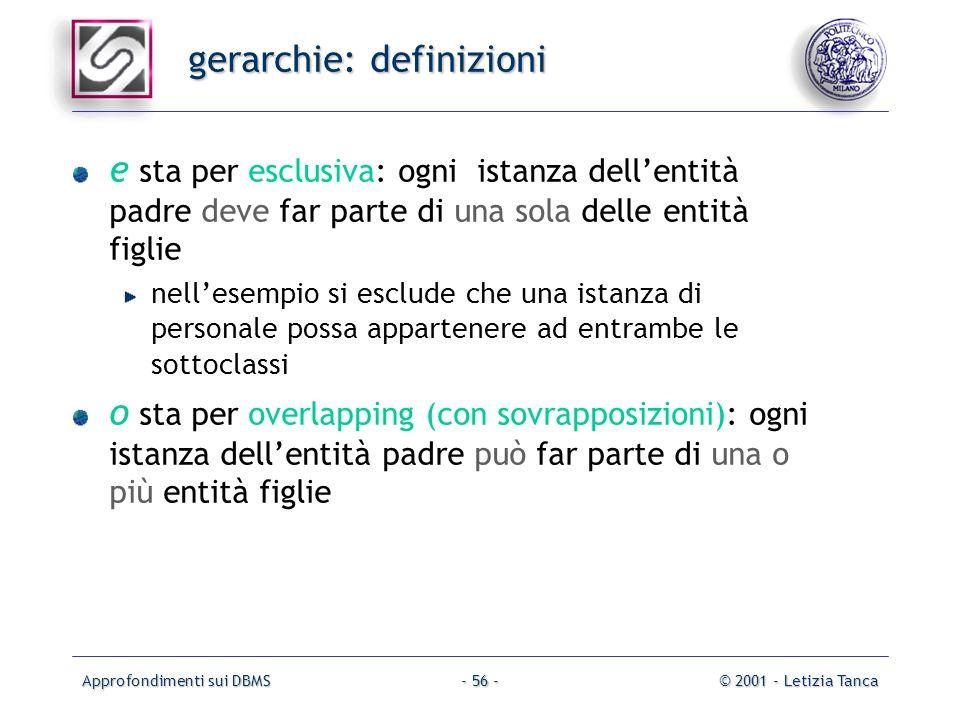 gerarchie: definizioni