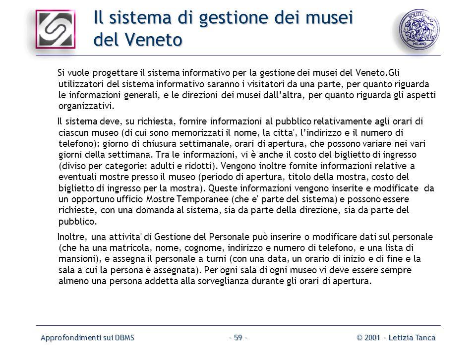 Il sistema di gestione dei musei del Veneto