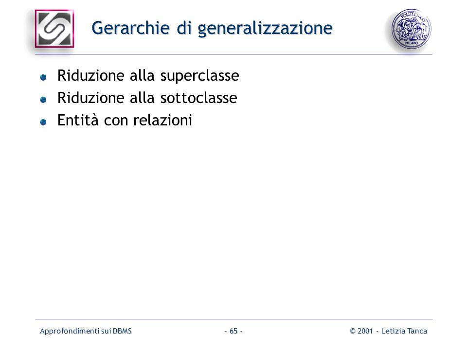 Gerarchie di generalizzazione
