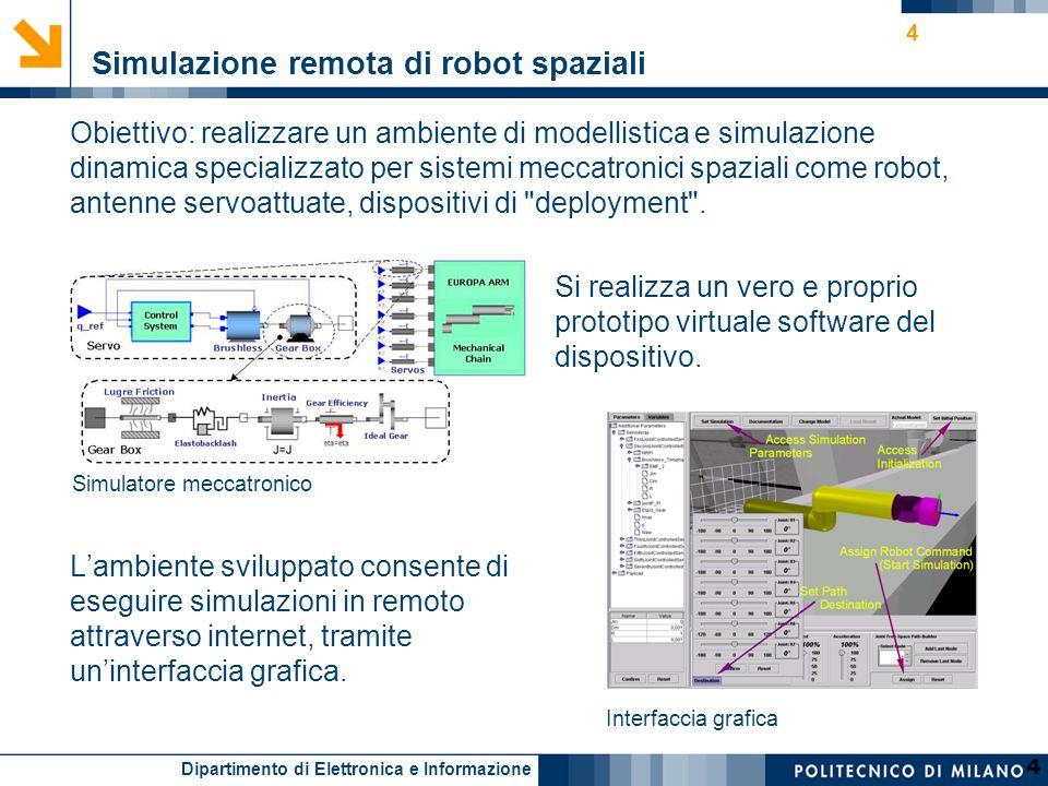 Simulazione remota di robot spaziali