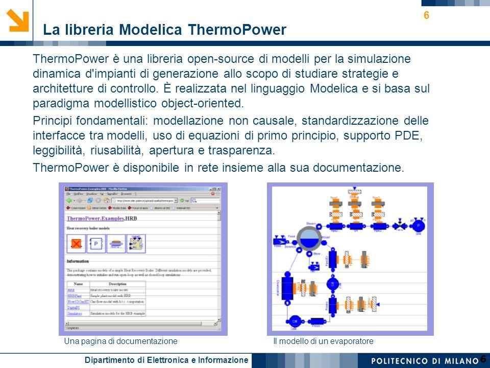 La libreria Modelica ThermoPower