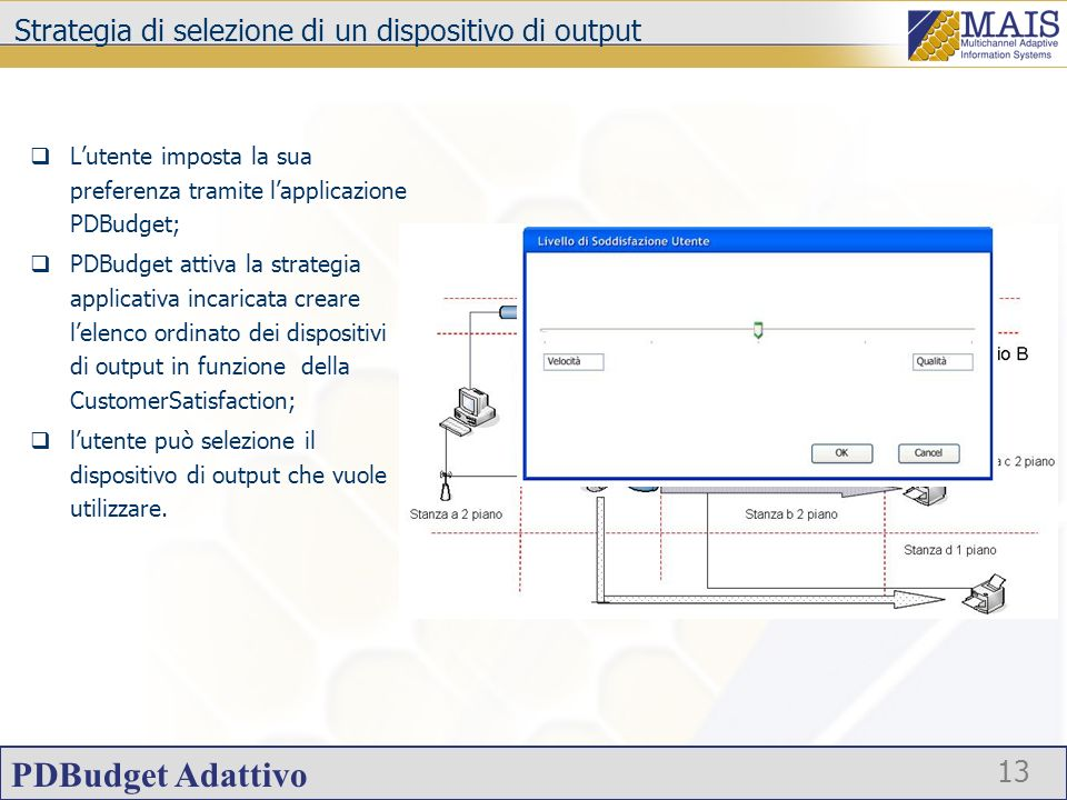 Strategia di selezione di un dispositivo di output