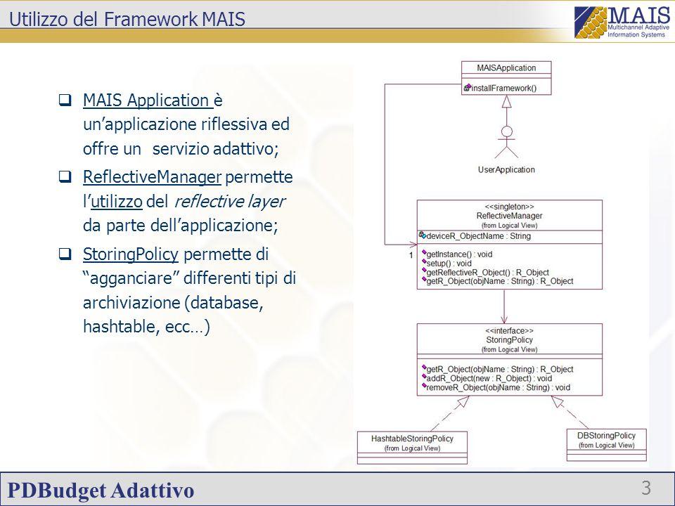 Utilizzo del Framework MAIS