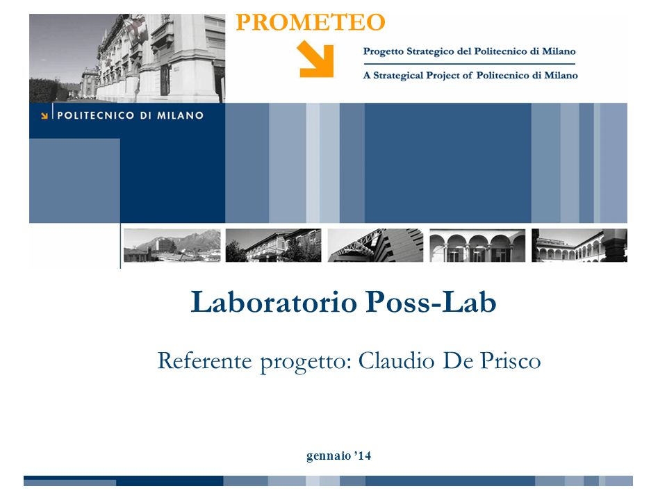 Referente progetto: Claudio De Prisco