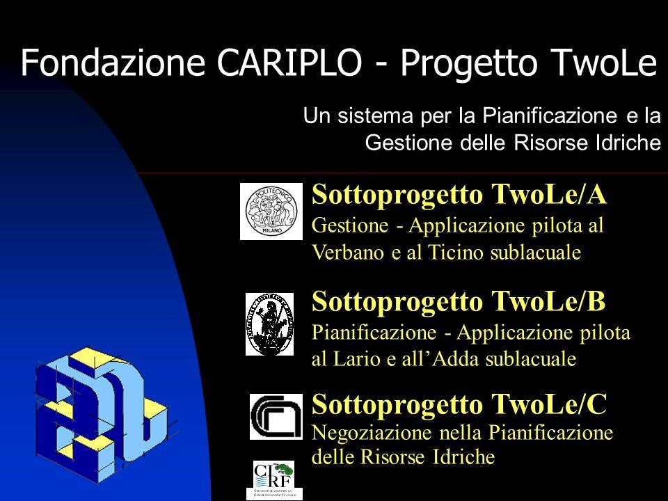 Fondazione CARIPLO - Progetto TwoLe