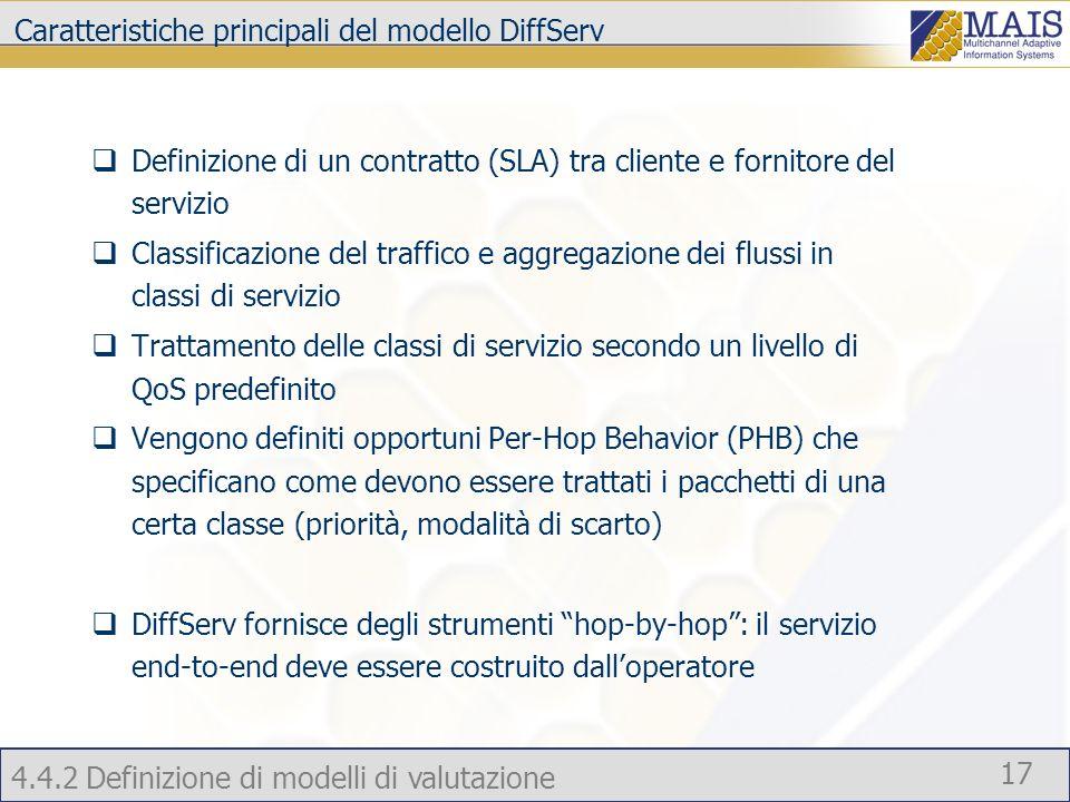 Caratteristiche principali del modello DiffServ