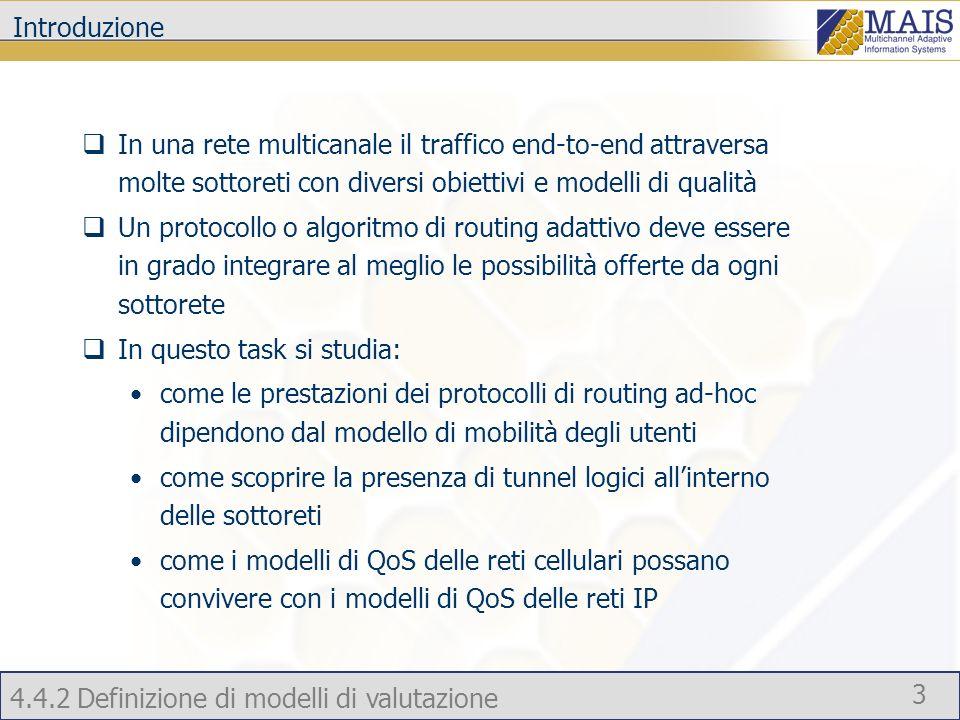 Introduzione In una rete multicanale il traffico end-to-end attraversa molte sottoreti con diversi obiettivi e modelli di qualità.