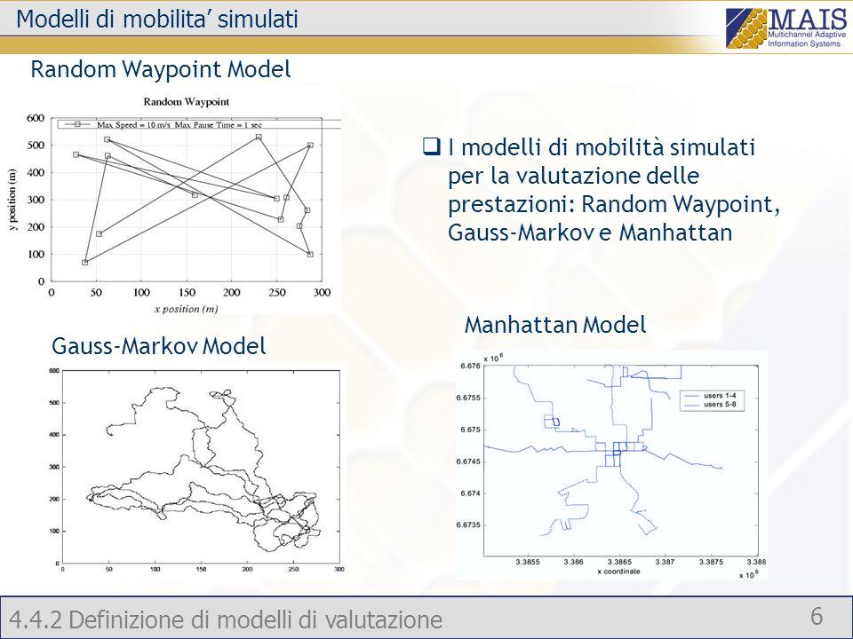 Modelli di mobilita' simulati