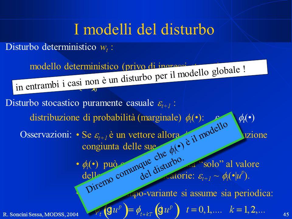Diremo comunque che ft(•) è il modello del disturbo.