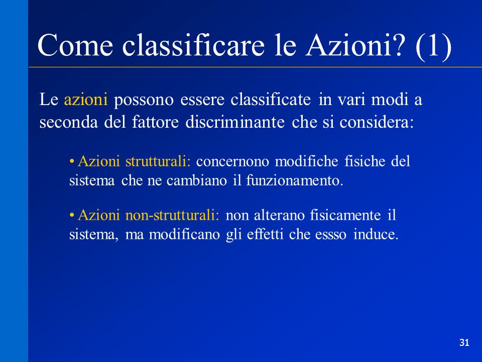 Come classificare le Azioni (1)