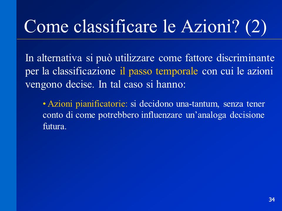 Come classificare le Azioni (2)