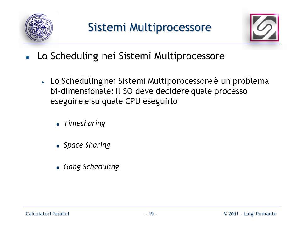 Sistemi Multiprocessore