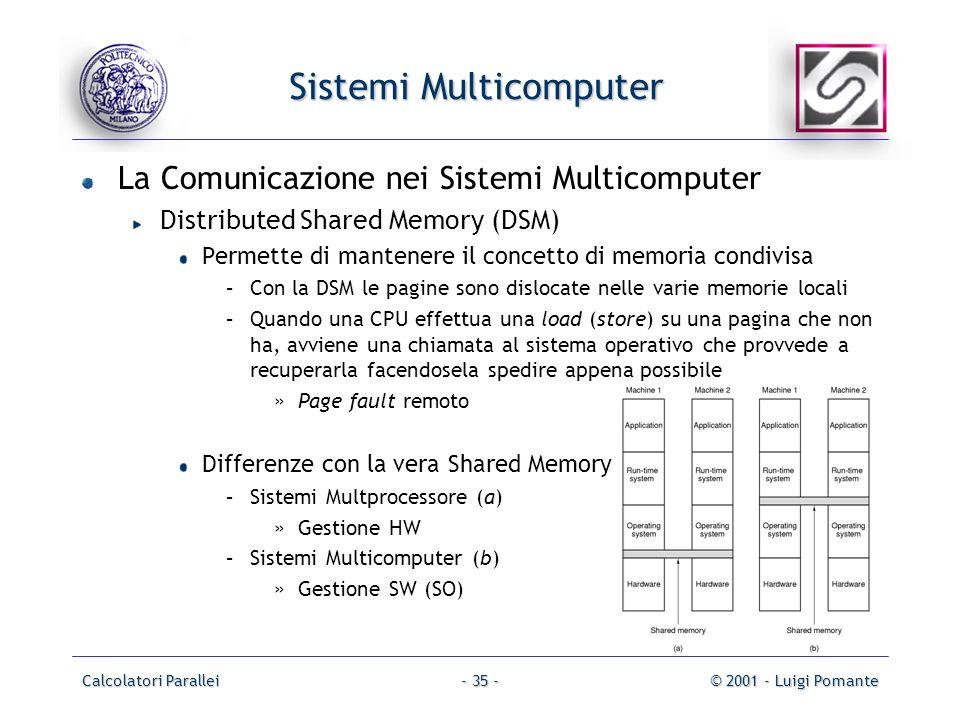 Sistemi Multicomputer