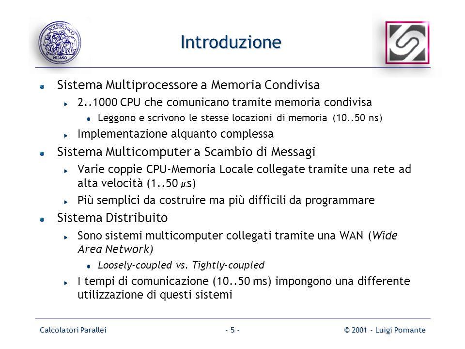 Introduzione Sistema Multiprocessore a Memoria Condivisa