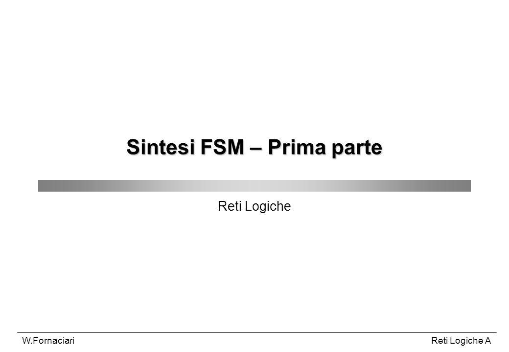 Sintesi FSM – Prima parte