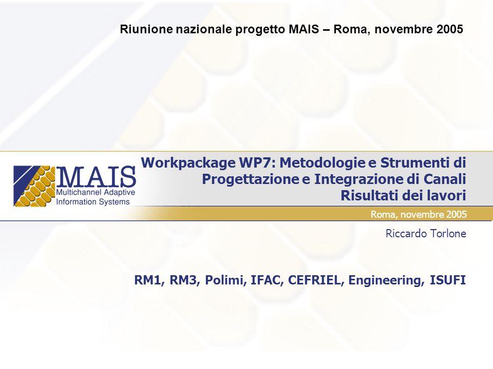 Riccardo Torlone RM1, RM3, Polimi, IFAC, CEFRIEL, Engineering, ISUFI