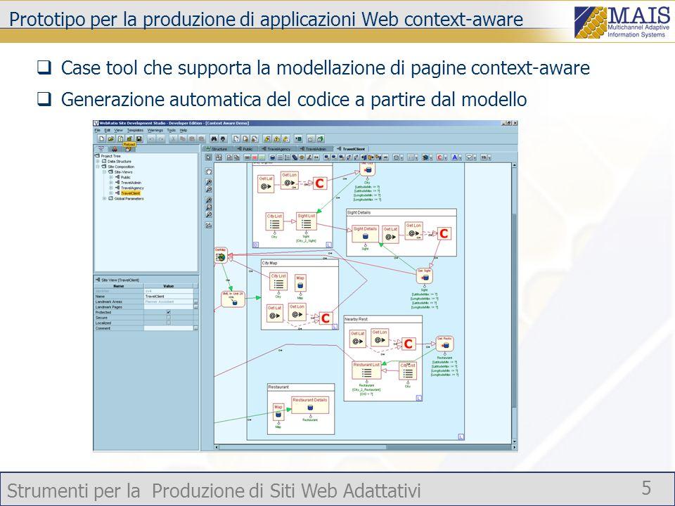 Prototipo per la produzione di applicazioni Web context-aware