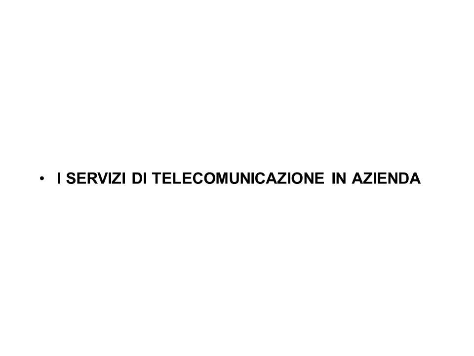 I SERVIZI DI TELECOMUNICAZIONE IN AZIENDA