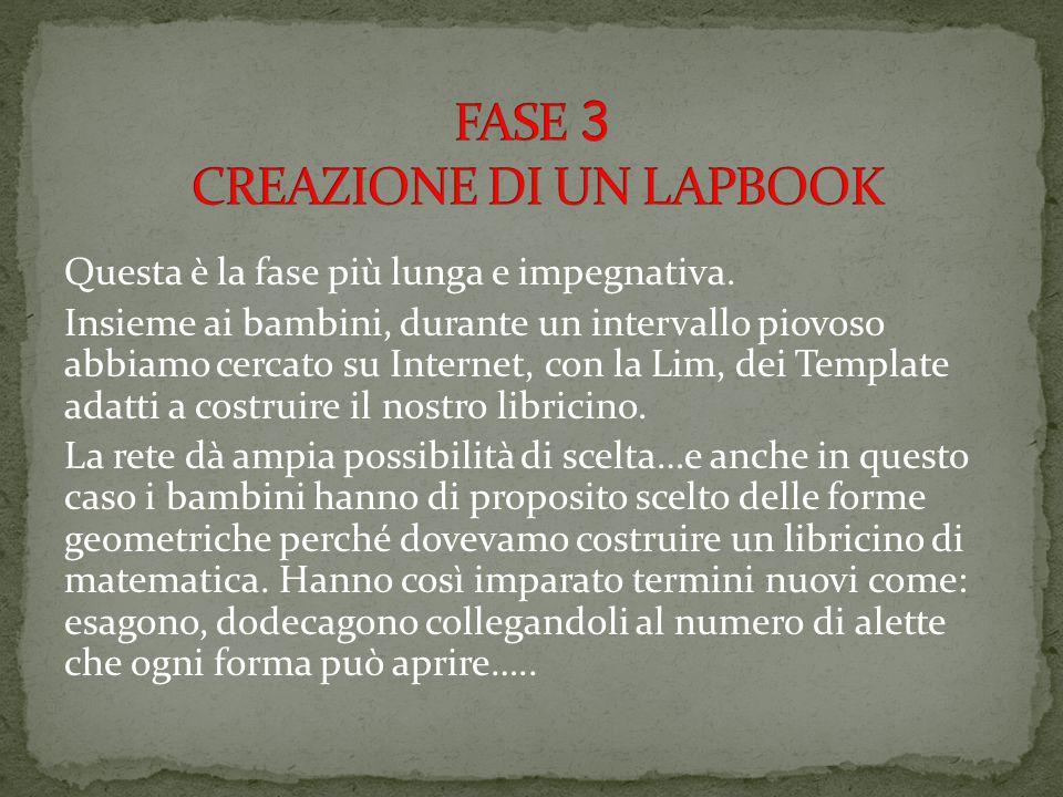 FASE 3 CREAZIONE DI UN LAPBOOK