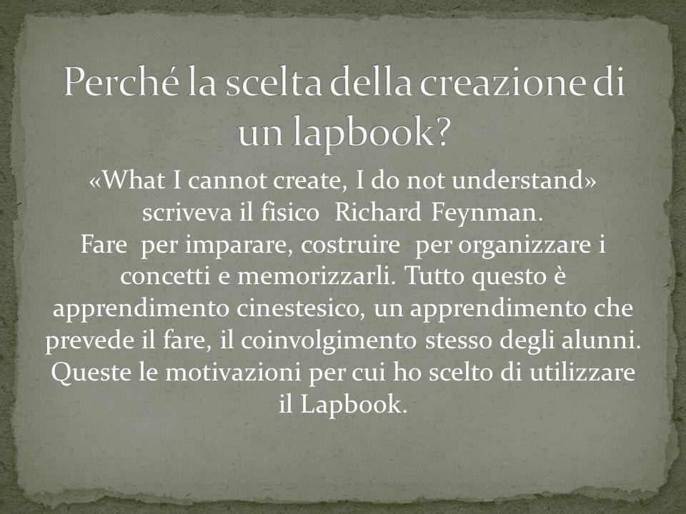 Perché la scelta della creazione di un lapbook