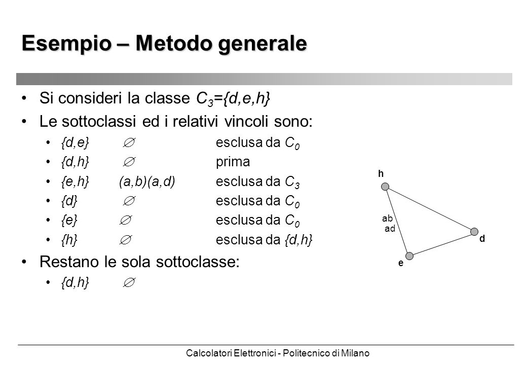 Esempio – Metodo generale