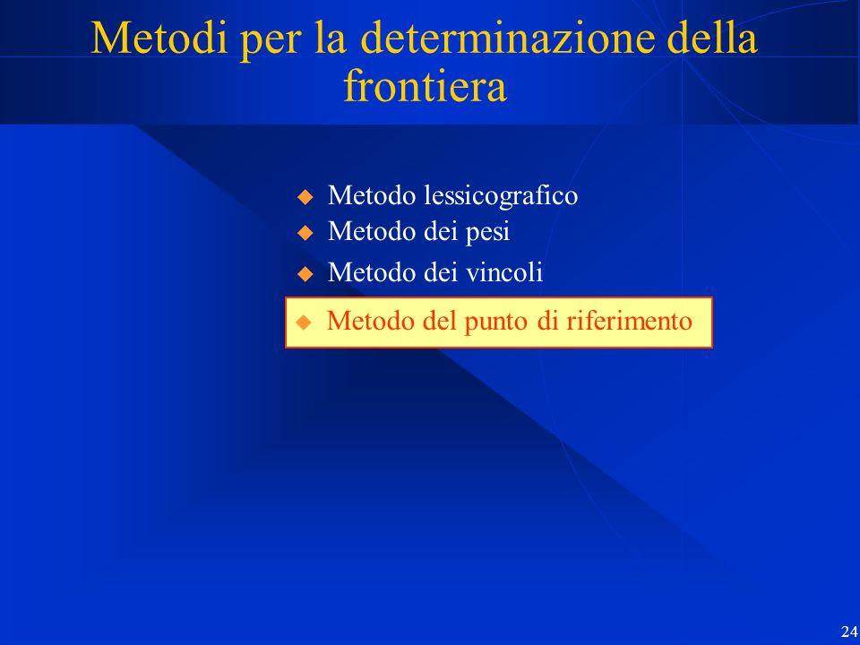 Metodi per la determinazione della frontiera