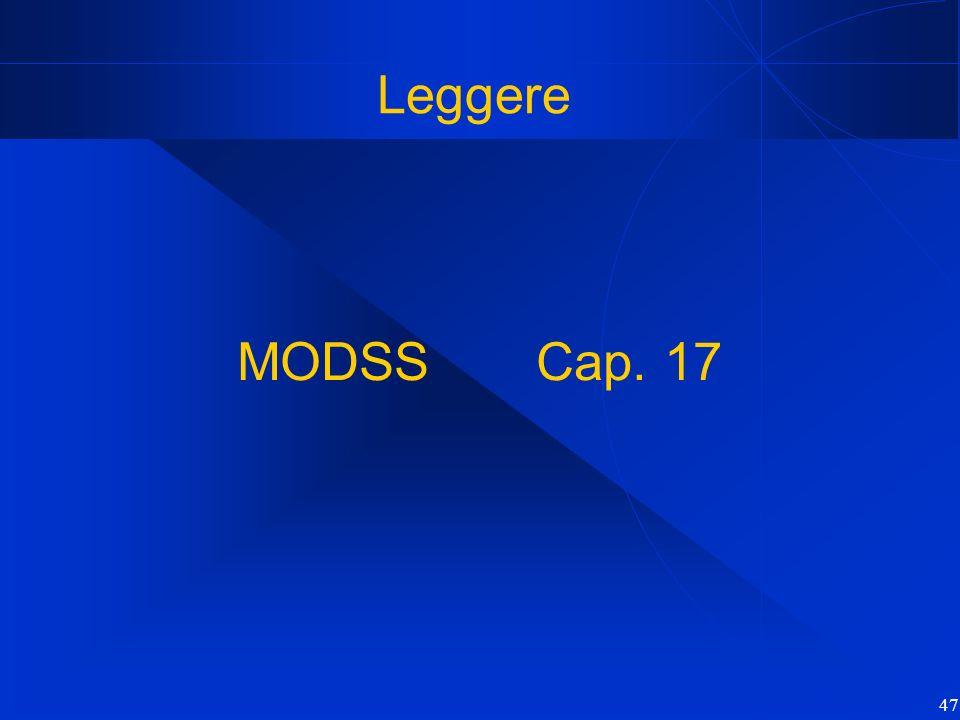 Leggere MODSS Cap. 17